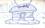 Donut Get!: Background Sketch